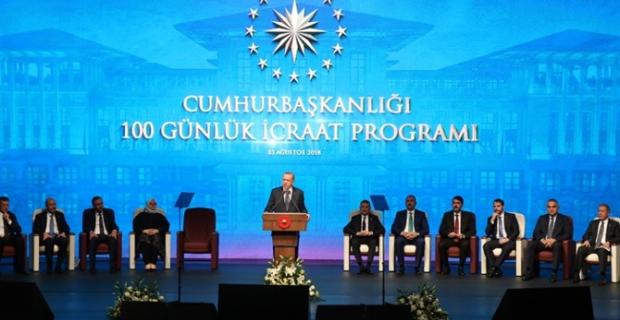 Erdoğan, 100 günlük eylem planını açıkladı