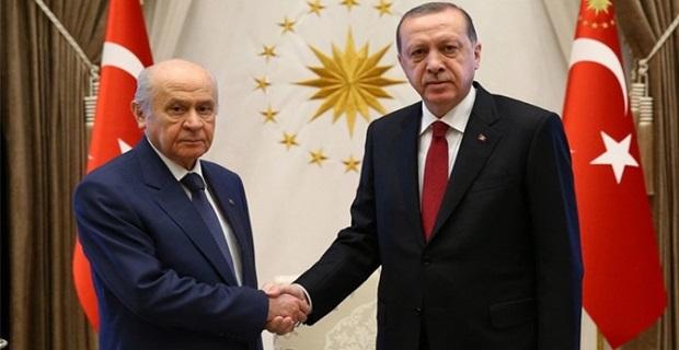 Erdoğan ve Bahçeli'den ittifak görüşmesi