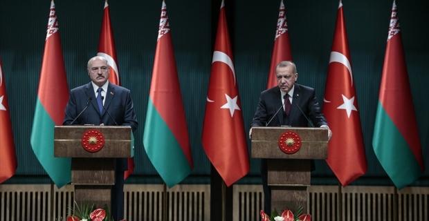 Cumhurbaşkanı Erdoğan: Belarus ile ticarette 1,5 milyar dolarlık hedef var