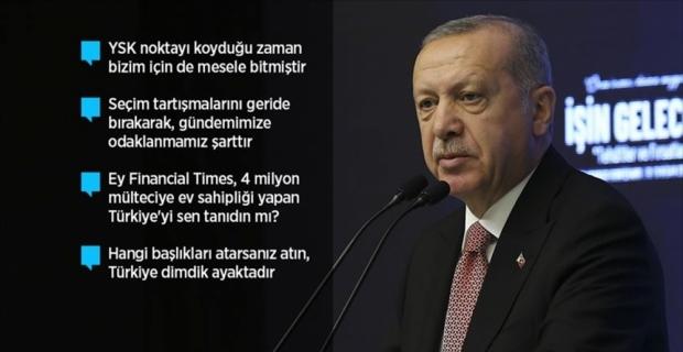 Cumhurbaşkanı Erdoğan: Zulümlere tribünden seyirci olmayız