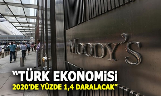 Türkiye, 2020'de yüzde 1,4 daralacak