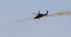 ATAK'lar yerli üretim Cirit'le Afrin'deki hedefleri vurdu