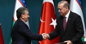 Özbekistan Cumhurbaşkanı Mirziyoyev Cumhurbaşkanı Erdoğan ile telefonla görüştü