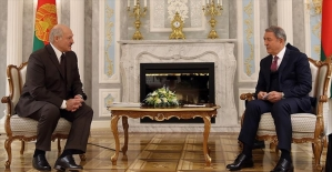 Milli Savunma Bakanı Akar ile Belarus Cumhurbaşkanı Lukaşenko bir araya geldi