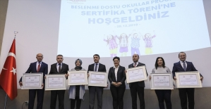 Binlerce okula 'beslenme dostu' sertifika