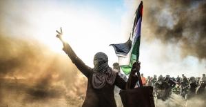 Filistinli gazeteci Washington'da Gazze'yi anlattı