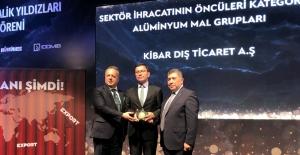 """Kibar Dış Ticaret'e İDDMİB'ten """"İhracatın Metalik Yıldızı"""" ödülü"""