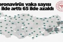 Koronavirüs vaka sayısı 16 ilde arttı, 65 ilde azaldı: En çok artan, azalan 5 il