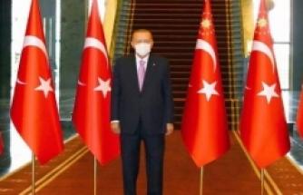 Cumhurbaşkanı Erdoğan Zafer Bayramı tebriklerini kabul etti